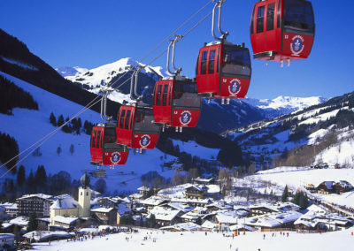Cable Cars, Kohlmais Bahn,Saalbach, Saalbach-Hinterglemm, Salzburger Land, Austria